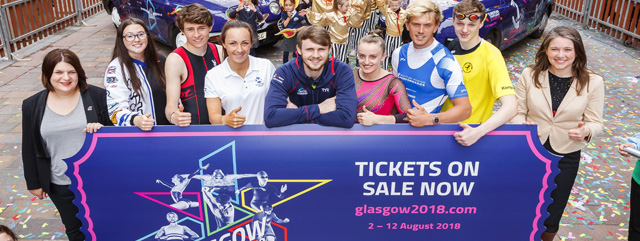 Glasgow 2018 Tickets on sale launch