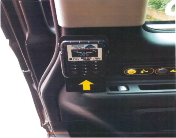 Credit Card Machine in taxi