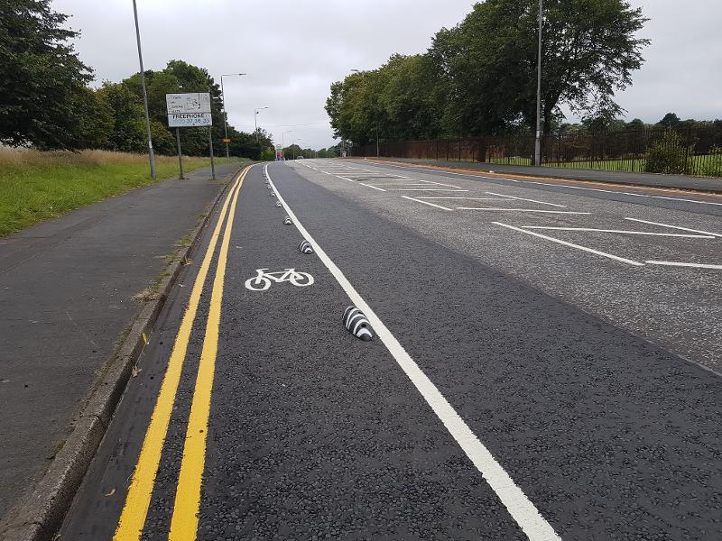 Cumbernauld Rd complete cycle lane 2