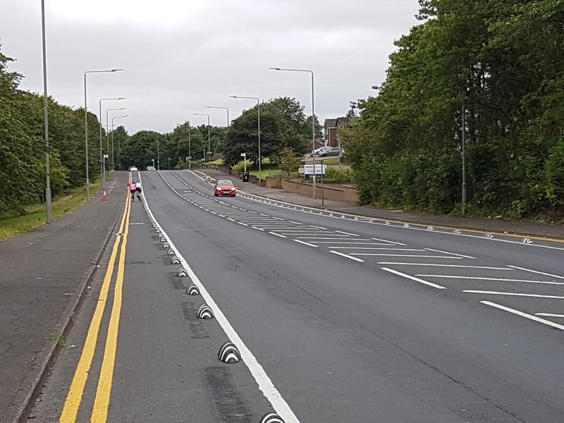 Cumbernauld Rd complete cycle lane 3