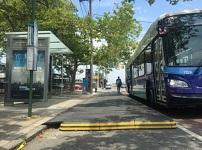 Bus stop boarders