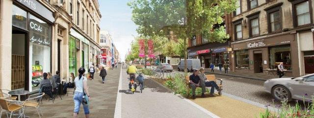 First trees planted on Sauchiehall Avenue