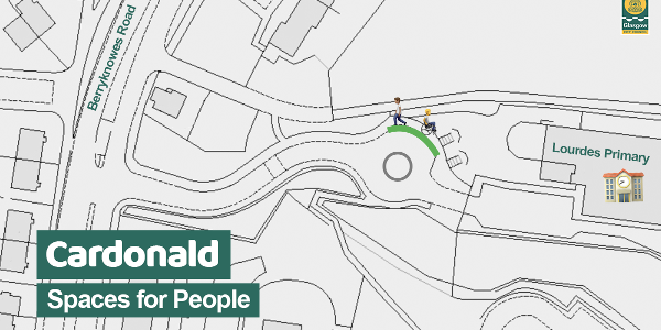 Lourdes PS footway widening social media map