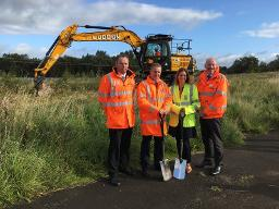 Construction begins on new Robroyston railway station