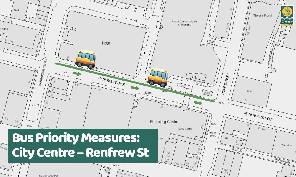 Renfrew St (Bus Priority)