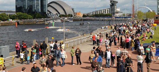 River Festival at River Clyde Displays a larger version of this image in a new browser window