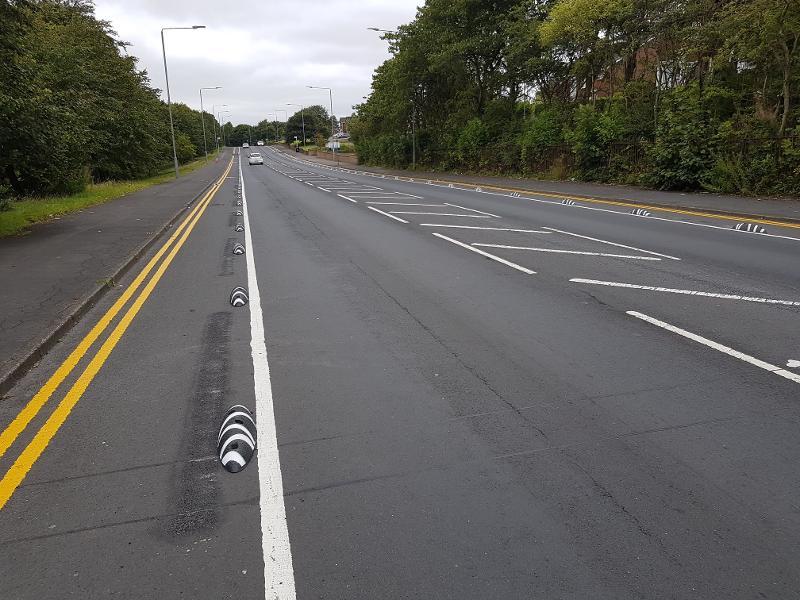 Cumbernauld Rd complete cycle lane 6