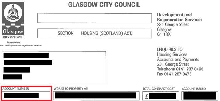 Housing invoice
