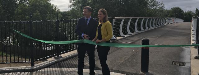 Polmadie Footbridge opening 2018