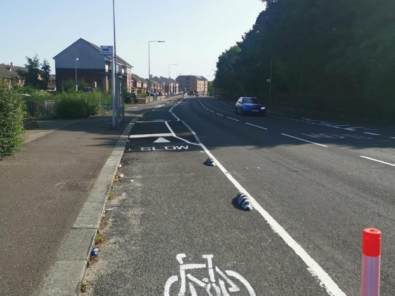 Bilsland Drive complete cycle lane 2