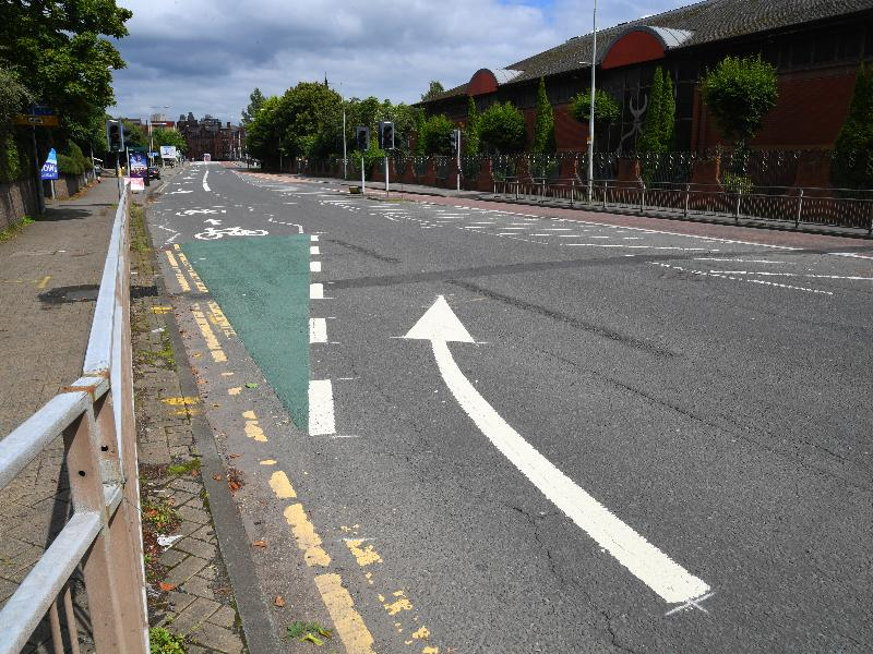 Gorbals cycle lane 1