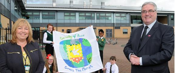Frank McAveety visits Our Lady of Peace Primary