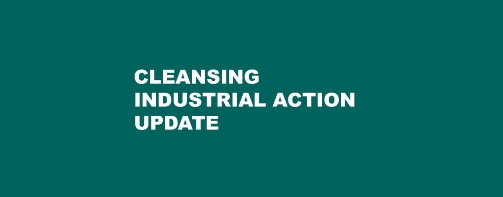 Industrial action update