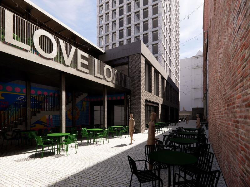 Funding from council for new public realm and public space at Love Loan
