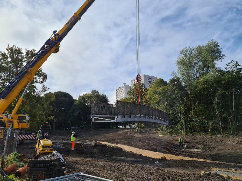 Sandyhill Park bridge lowering 1