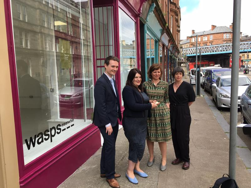 Meanwhile Space project creates space for artists in units in High Street and Saltmarket area
