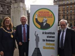 Nelson mandela statue launch