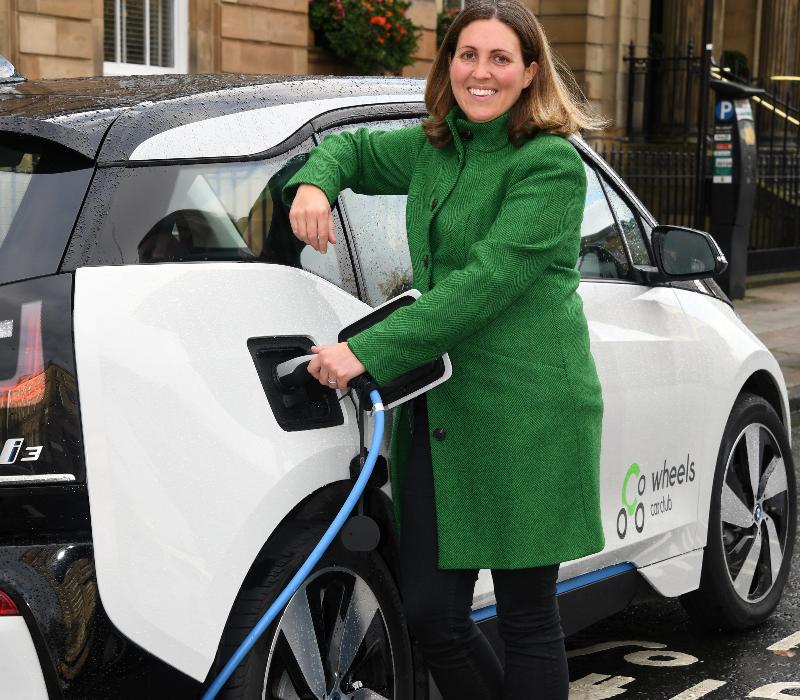 Co Wheels - Cllr R charging car