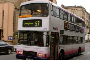 Roads - Bus on Bath Street Displays a larger version of this image in a new browser window