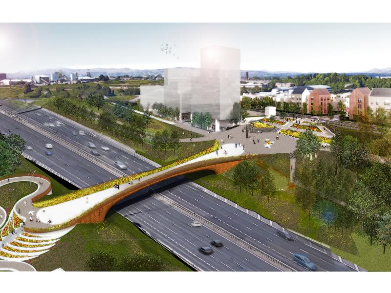 Contract awarded for new M8 bridge connecting Sighthill to city centre