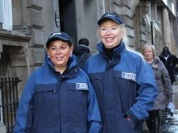 Street Pastors Margaret Reeves and Linda McKendrick Displays a larger version of this image in a new browser window