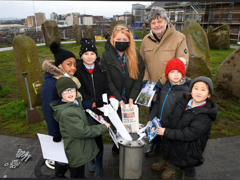 Historic day for Sighthill as time capsules buried at stone circle