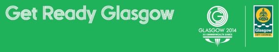 Get Ready Glasgow 580 green background banner