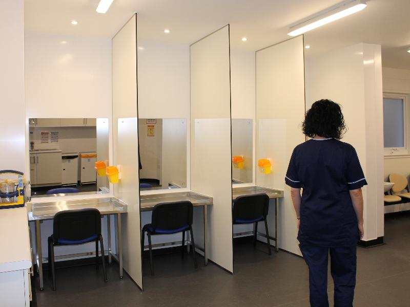 Injecting area Enhanced Drug Treatment Service Displays a larger version of this image in a new browser window