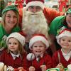 pupils with Santa and elves