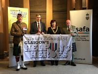 Lord Provost Sadie Docherty today signed up as the city's first high profile 'friend' of Glasgow's Helping Heroes.