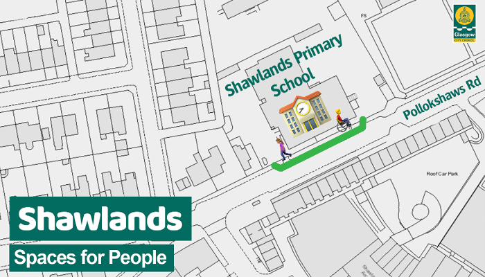 Shawlands PS footway widening graphic